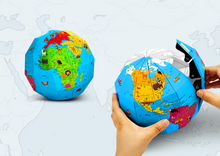 3D Paper Globe Puzzle - World of Animals