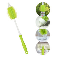 Innobaby Cleanin' SMART 2-in-1 Silicone Bottle Brush - Green