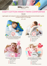 Cozy Cotton Minky Twin Comforter (Various Patterns)