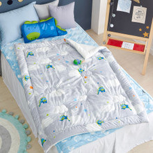 Cotton Jacquard Quilted Toddler Comforter (Various Patterns)