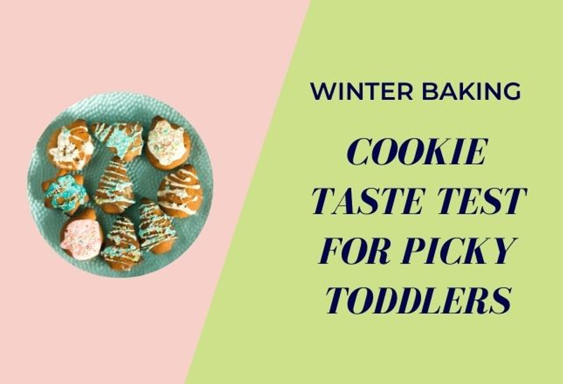 Winter Baking- Cookie Taste Test for Picky Toddlers