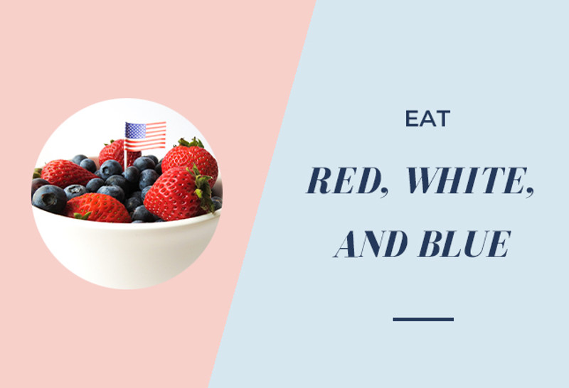 EAT RED, WHITE, AND BLUE
