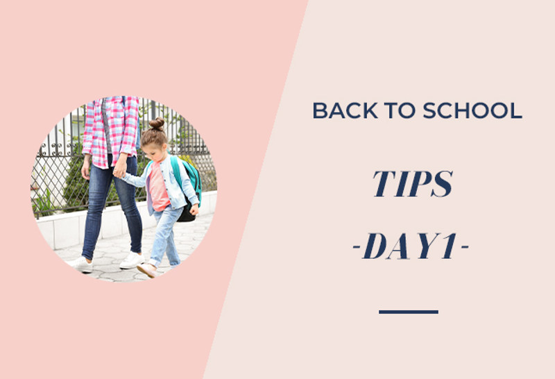 Back to School Tips - Day 1 - Cures for the First Day Jitters