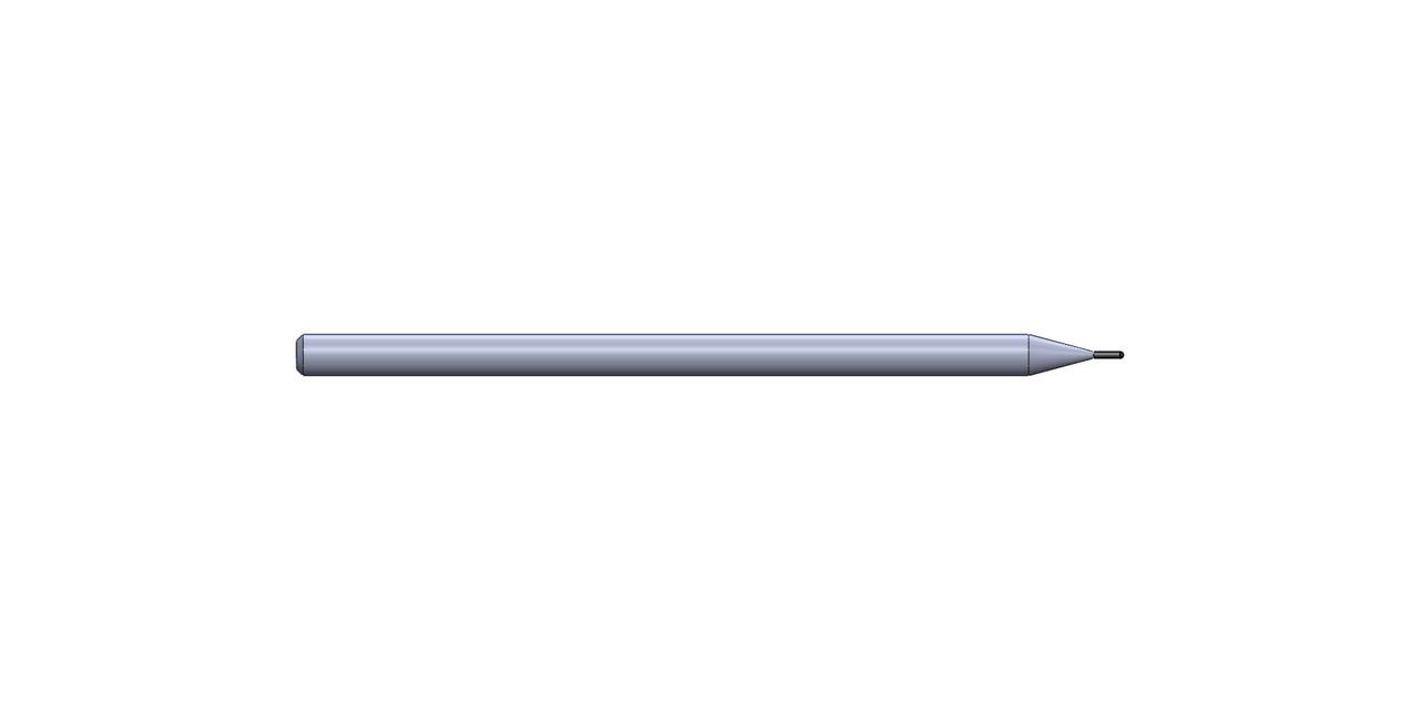 "0.0197"" DIA X 0.090"" LOC X  2-1/2"" OAL 2 FL Ball End Standard Coating"