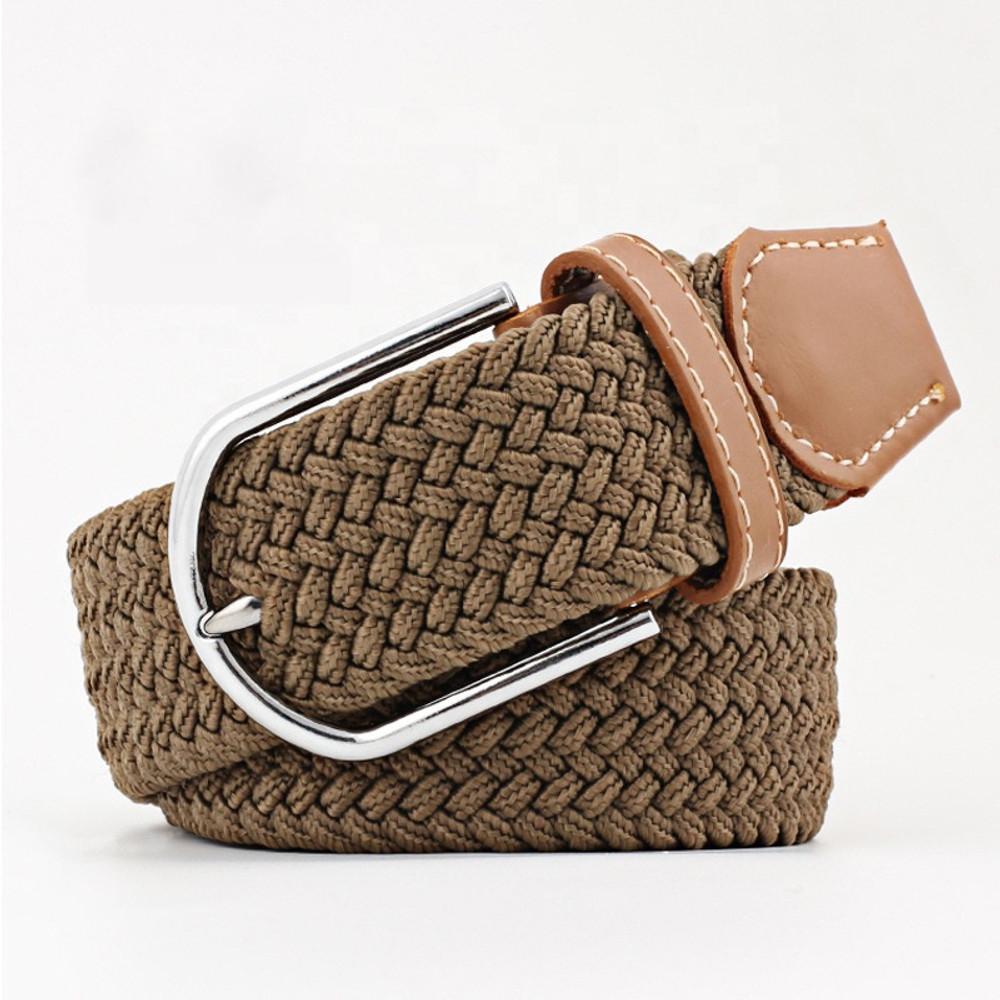 Woven Fabric Belt - Brown
