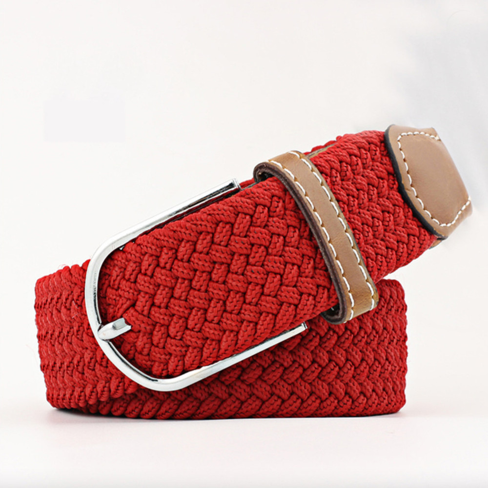 Woven Fabric Belt - Red