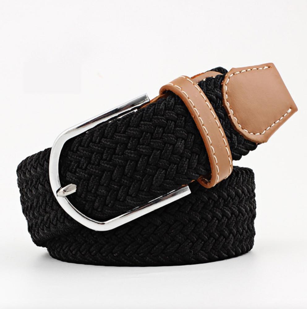 Woven Fabric Belt - Black