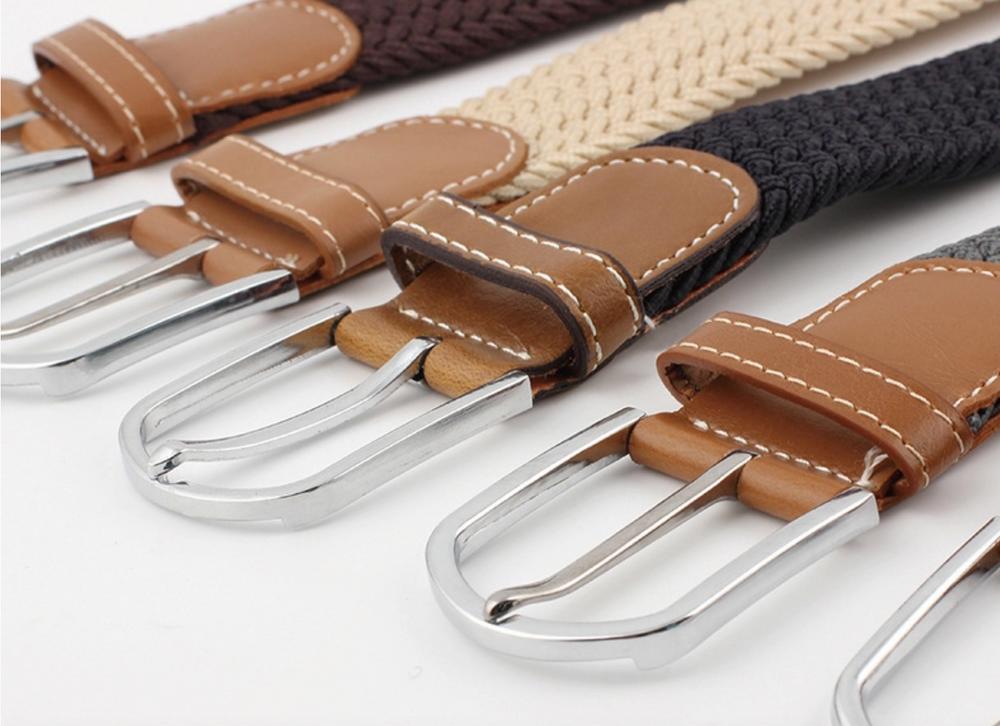 Woven Fabric Belt - Tan Blend