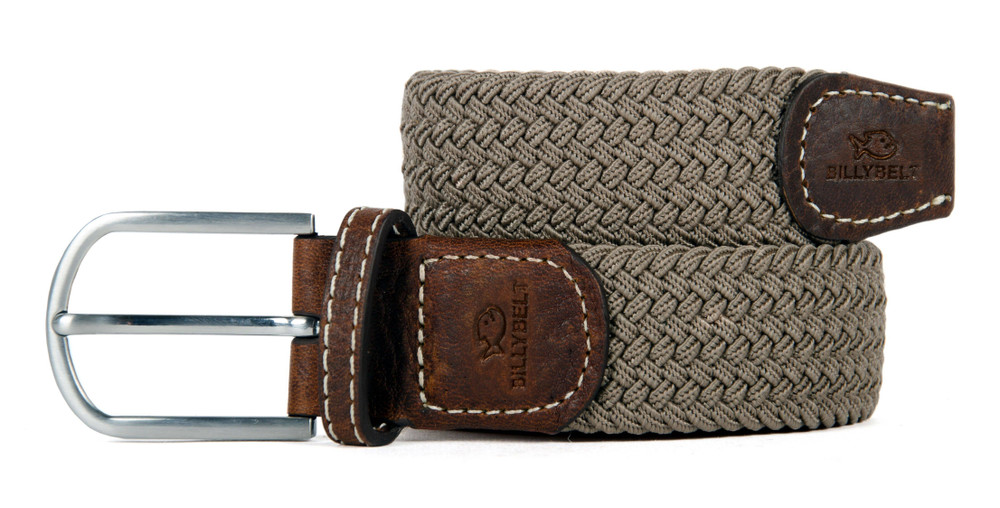 Billybelt Woven Belt - Taupe Beige