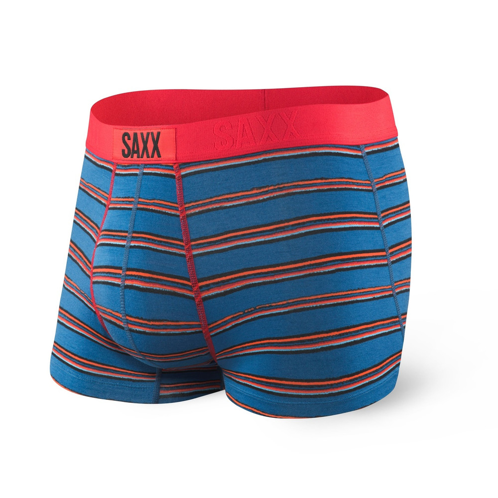 SAXX Vibe Blue Stripe Trunk