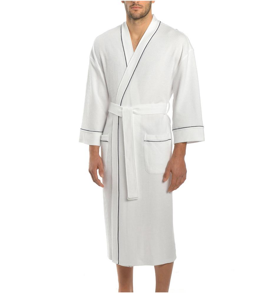 Majestic Knit Waffle Kimono Robe