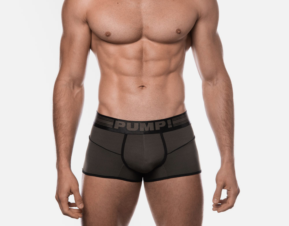PUMP! Military Green Free-Fit Trunks