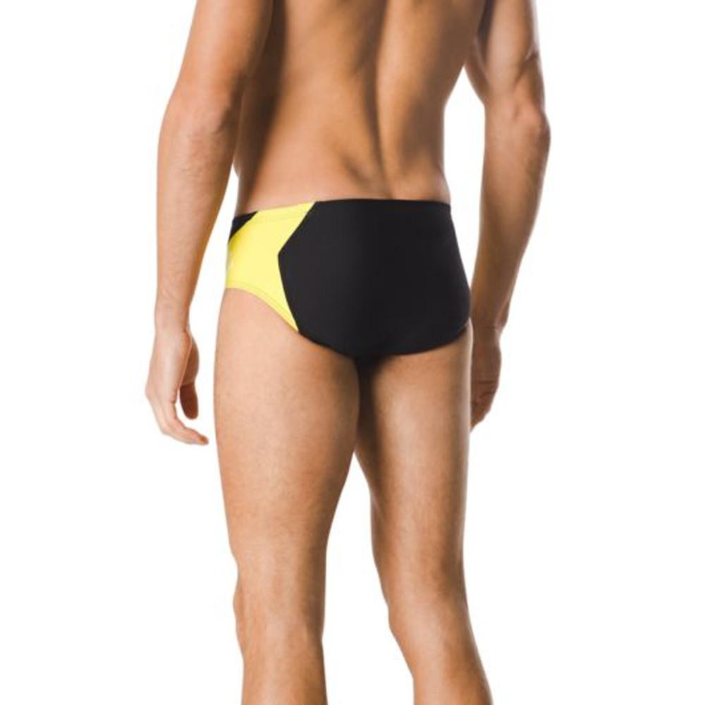 Speedo Endurance+ Spark Splice Brief - Black/Yellow