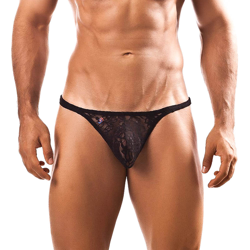 Joe Snyder Black Lace Thong