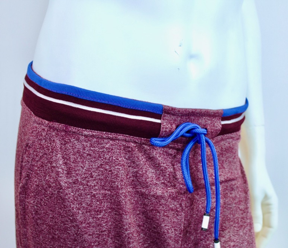 Bottoms Out Red Speck Jersey Joggers