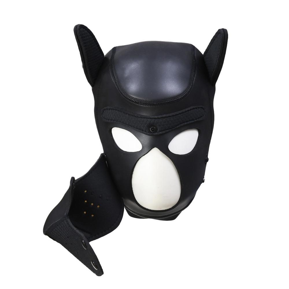 Neoprene Pup Hood - Black