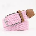 Woven Fabric Belt - Pink