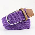 Woven Fabric Belt - Purple