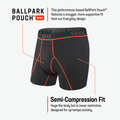 SAXX Kinetic HD Black Vermillion Boxer Briefs