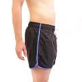 Evolve Black Piped Swim Shorts