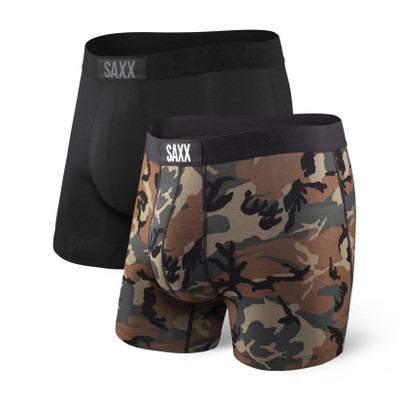 SAXX Vibe Boxer Briefs 2-Pack Black/Camo