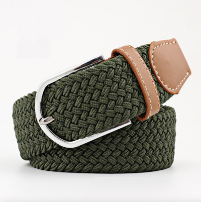 Woven Fabric Belt - Olive