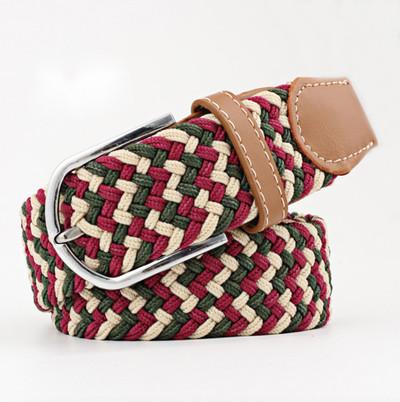 Woven Fabric Belt - Holiday Blend