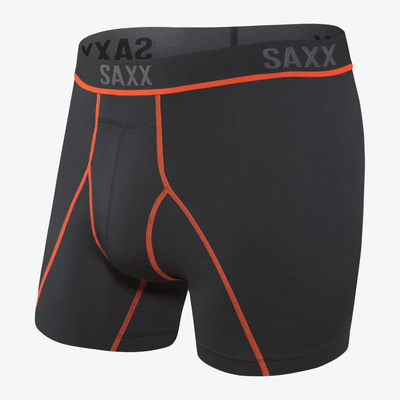 SAXX Kinetic HD Black Vermillion Boxer Briefs