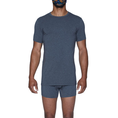 Wood Classic Modal Crew T - Charcoal Heather