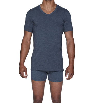 Wood Classic Modal V-Neck - Charcoal Heather