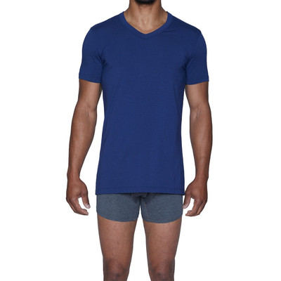 Wood Classic Modal V-Neck - Deep Space Blue