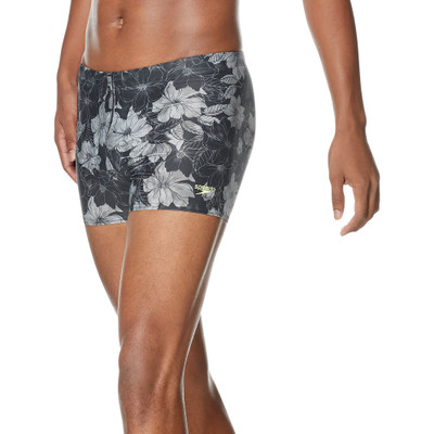 Speedo Square Leg Printed Fitted Trunk - Anthracite