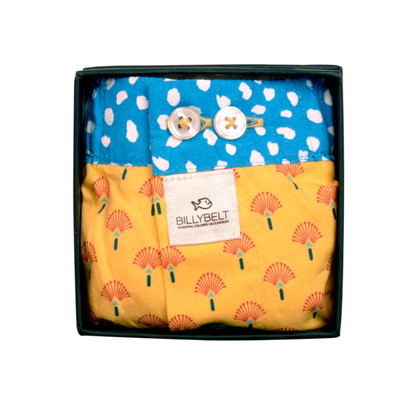 Billybelt Organic Boxer - Yellow Peacock