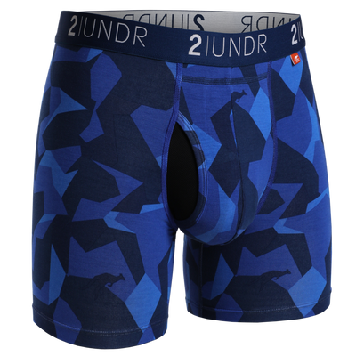2UNDR Blue Camo Swing Shift Boxer Briefs