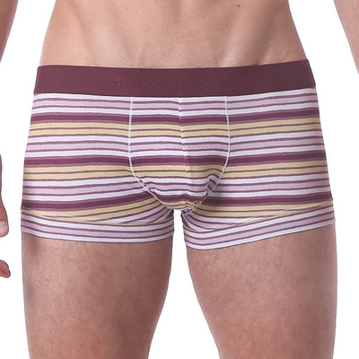 Parke and Ronen Polygraph Stripe Microfiber Low Trunk - Pink