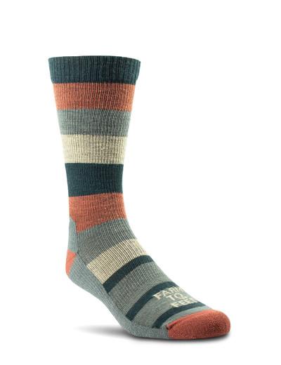 Farm To Feet Rutherford Lightweight Crew Sock - Mahogany