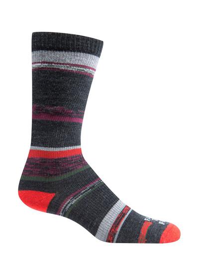 Farm To Feet King Ultralight Crew Sock - Charcoal/Sycamore