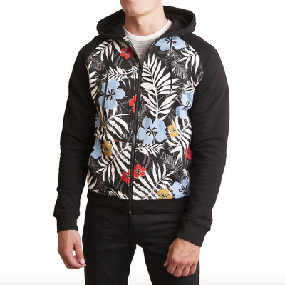 Diamond Head Knit Floral Hoodie