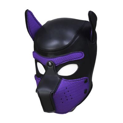 Neoprene Pup Hood - Purple