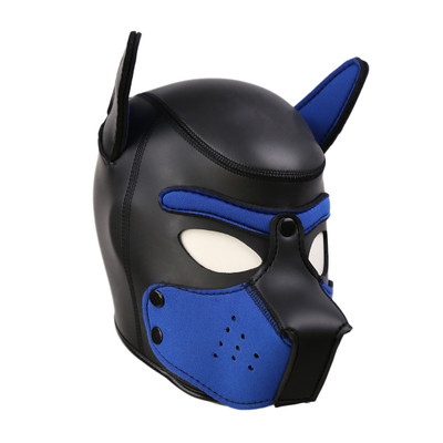 Neoprene Pup Hood - Blue