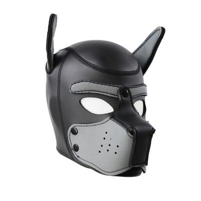 Neoprene Pup Hood - Grey