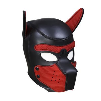 Neoprene Pup Hood - Red