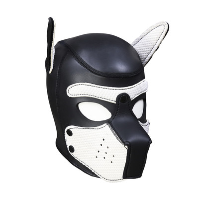 Neoprene Pup Hood - White