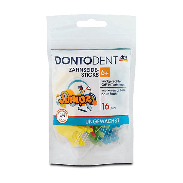 Dontodent Dental Floss For Children over 6 years. 16 pck