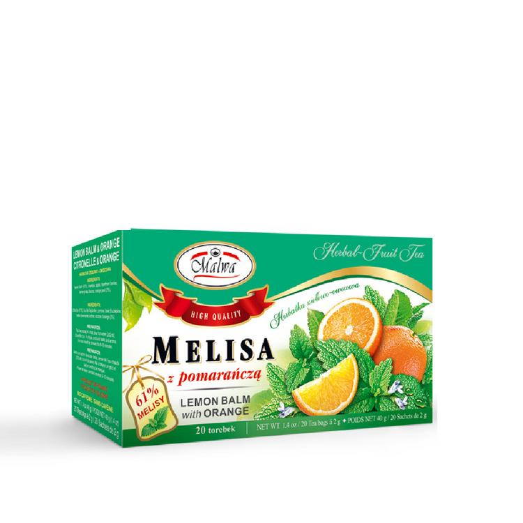 Malwa Lemon Balm With Orange Tea. 20x2g, 40g