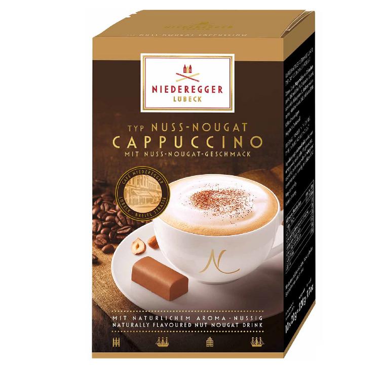 Niederegger Nuss-Nougat Cappuccino Coffee Sachets 10 x 22g