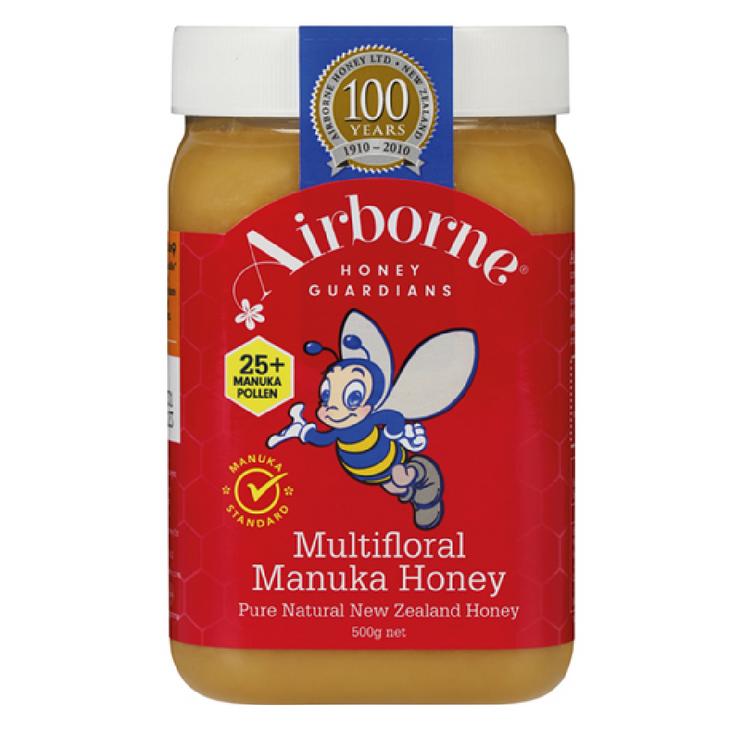 Airborne Classic Manuka Multifloral  Honey 25+ 500g
