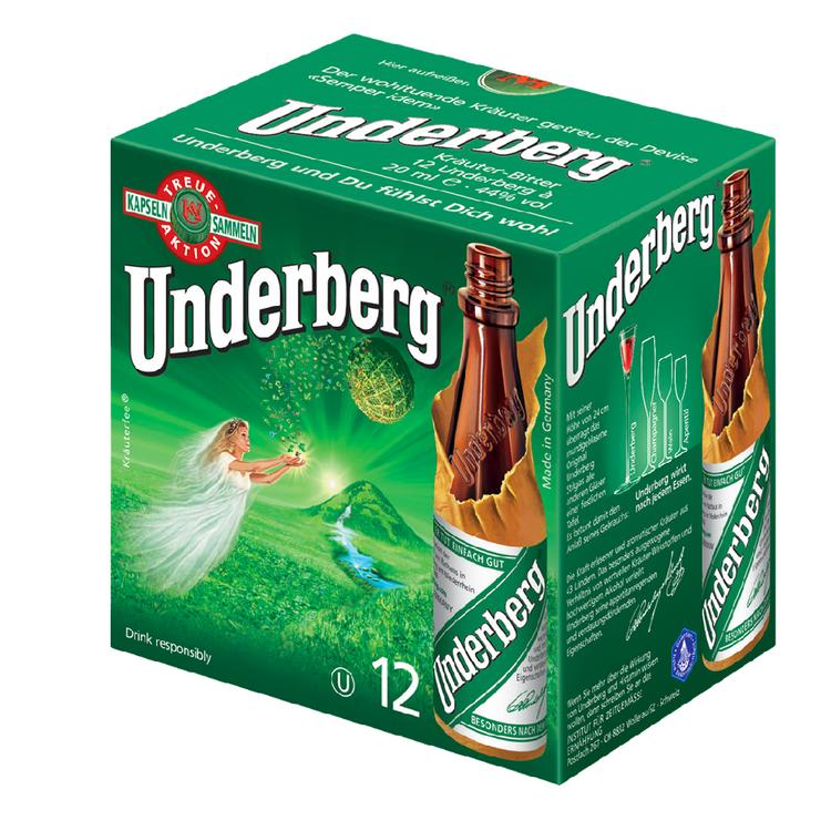 Underberg. Herbal digestive 12 bottles x 20ml