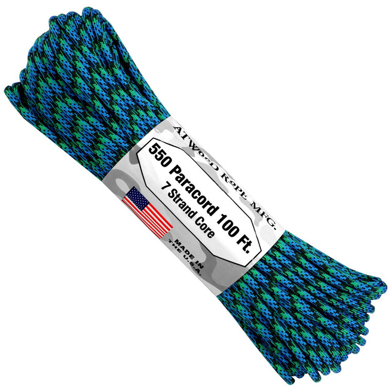 Atwood Rope MFG 550 Paracord 100ft - Reef