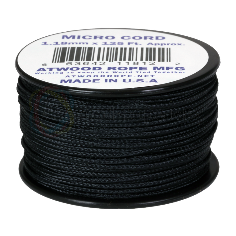 Atwood Rope MFG 1.18mm Micro Cord 125ft - Black
